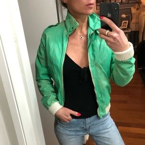 Giorgio Brato distressed effect leather jacket S